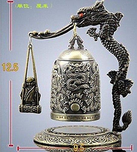 Buddha Dragon - Faraway HANDWORK tibet silver Exquisite Tibet Bronze Carved Dragon buddha Bell Metal Crafts Tibetan Bronze decoration