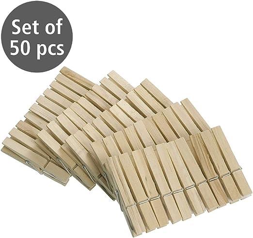 50 piezas 7 x 1cm Pinzas Para Colgar la ropa NATURAL
