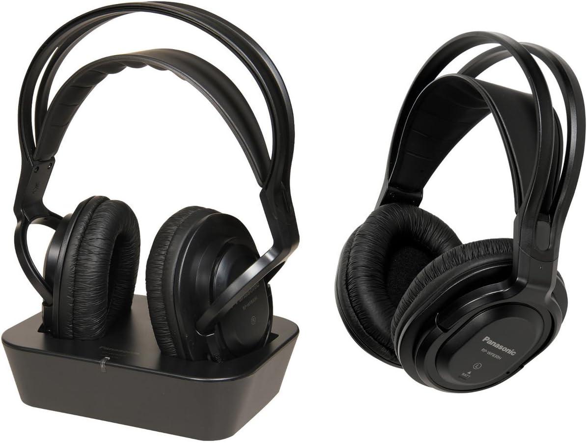 Panasonic RP-WF830WE-K - Auriculares Dobles Inalámbricos Diadema (Adecuado para Personas Mayores, Hi-Fi Sonido, Base Recargable, Aislante de Ruido, Cascos Diadema Premium TV) Negro: BLOCK: Amazon.es: Electrónica