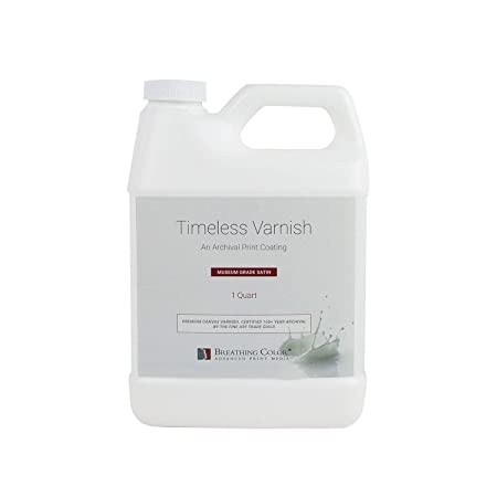 Timeless Archival Print Varnish – 1 Quart, Satin Finish, Highest Quality Canvas Coating, Water Based UV Protection, 100 Years Certified Archival