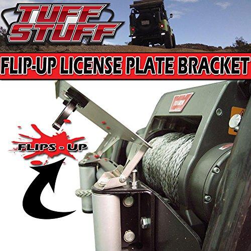 Tuff Stuff Roller Fairlead License Plate Mount- Stainless Steel