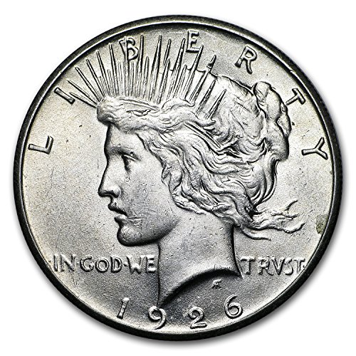 1926 Peace Dollar AU $1 About Uncirculated