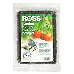 Ross 16440 Black Mesh Plastic, 3 x 50 feet (Multi Netting for Use Around Yard and Garden), 3 feet feet