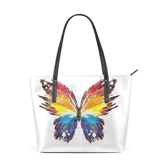 COOSUN Resumen de la Mariposa Patrones Coloridos de la PU de ...