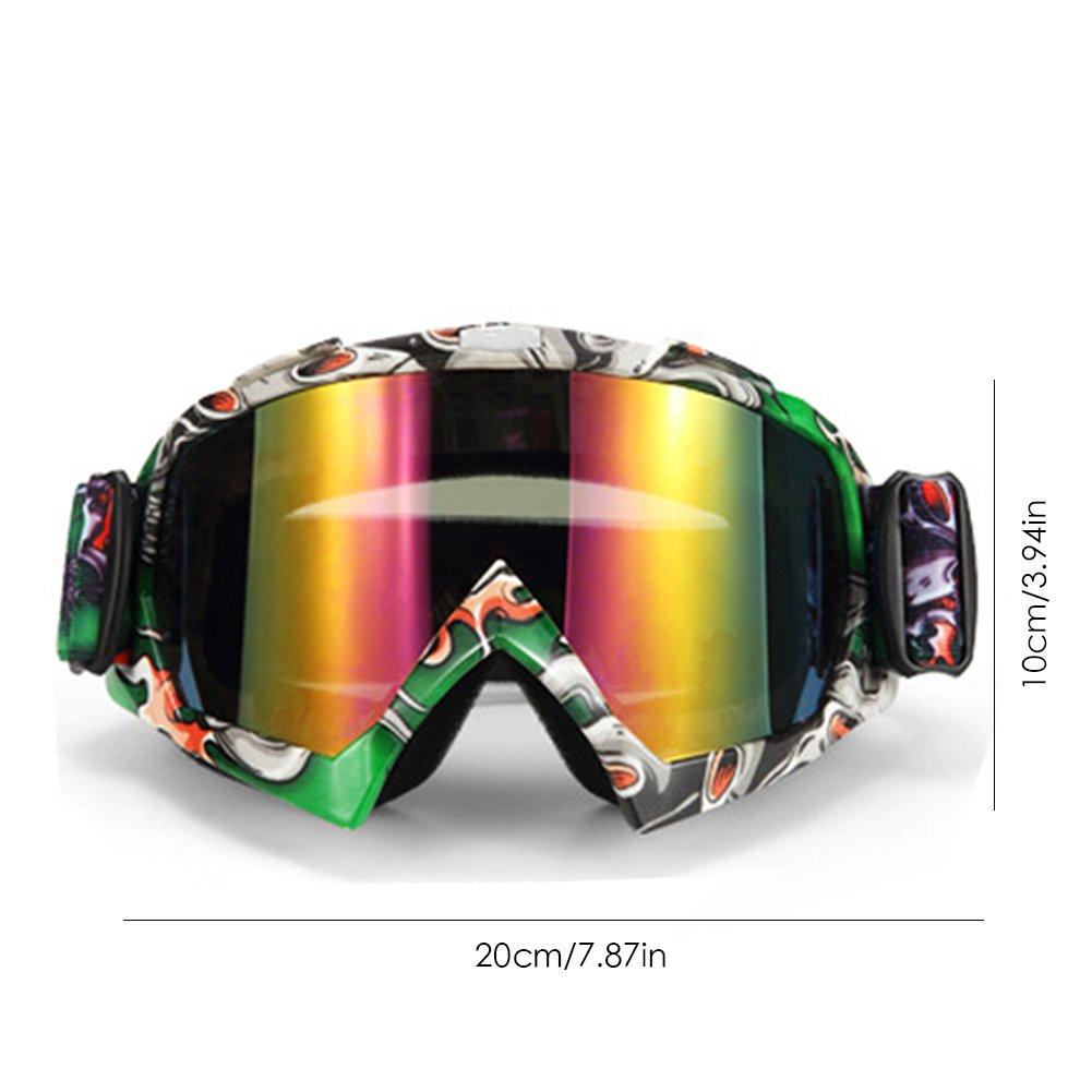 LeKing Occhiali da moto cavaliere attrezzature OFF-ROAD occhialini da sci Outdoor equitazione occhiali