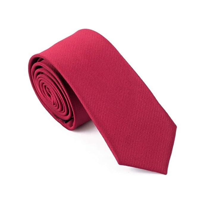 Corbata Corbata Estrecha Angosta Para Hombre 6cm Ancho Seda Rojo ...