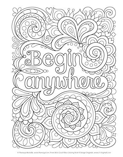 More Good Vibes Coloring Book Coloring Is Fun Design Originals 32 Beginner Friendly Uplifting Creative Art Activities On High Quality