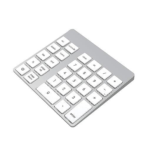 Cateck pavé numérique Bluetooth sans Fil à 28 Touches Rechargeable pour iMac, MacBook Air, MacBook Pro, MacBook et Mac Mini