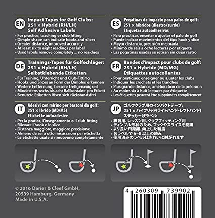 Amazon.com : Birdietape 251 Fairway Wood/Hybrid Tapes (RH/LH ...
