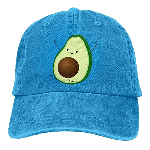 Buecoutes Funny Avocado Unisex Cowboy Baseball Caps Dad Hats RoyalBlue