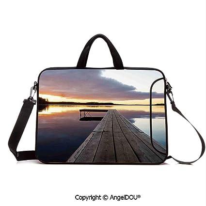 e797811fd7d6 Amazon.com: AngelDOU Neoprene Printed Fashion Laptop Bag View of ...