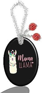 Luxcase Custom Fashion Personalized Oval Porcelain Ornaments Christmas Ornaments Home Decoration (Mama Llama)