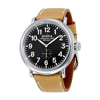 853adc237 Amazon.com: Shinola Detroit Men's The Runwell 47mm - 10000141 Midnight Blue/Natural:  Watches