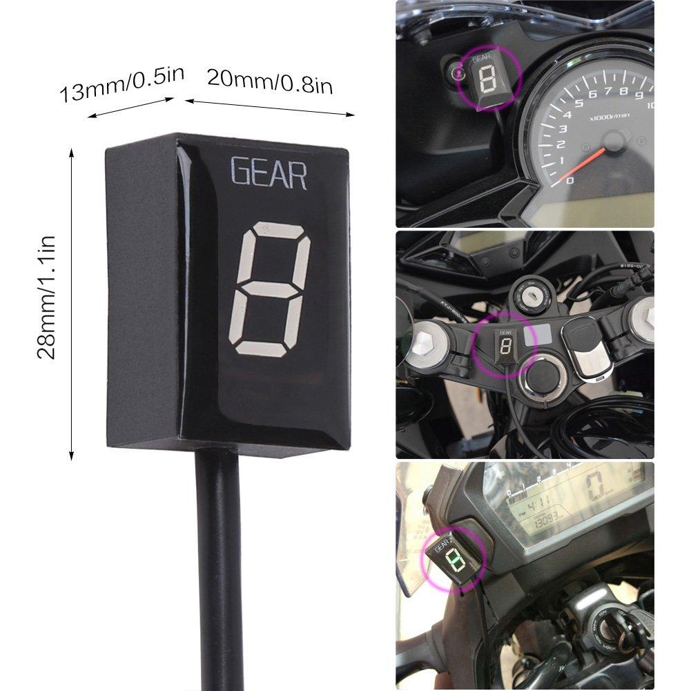 Idea Waterproof Motorcycle Gear Indicator Led Display For Honda Plug