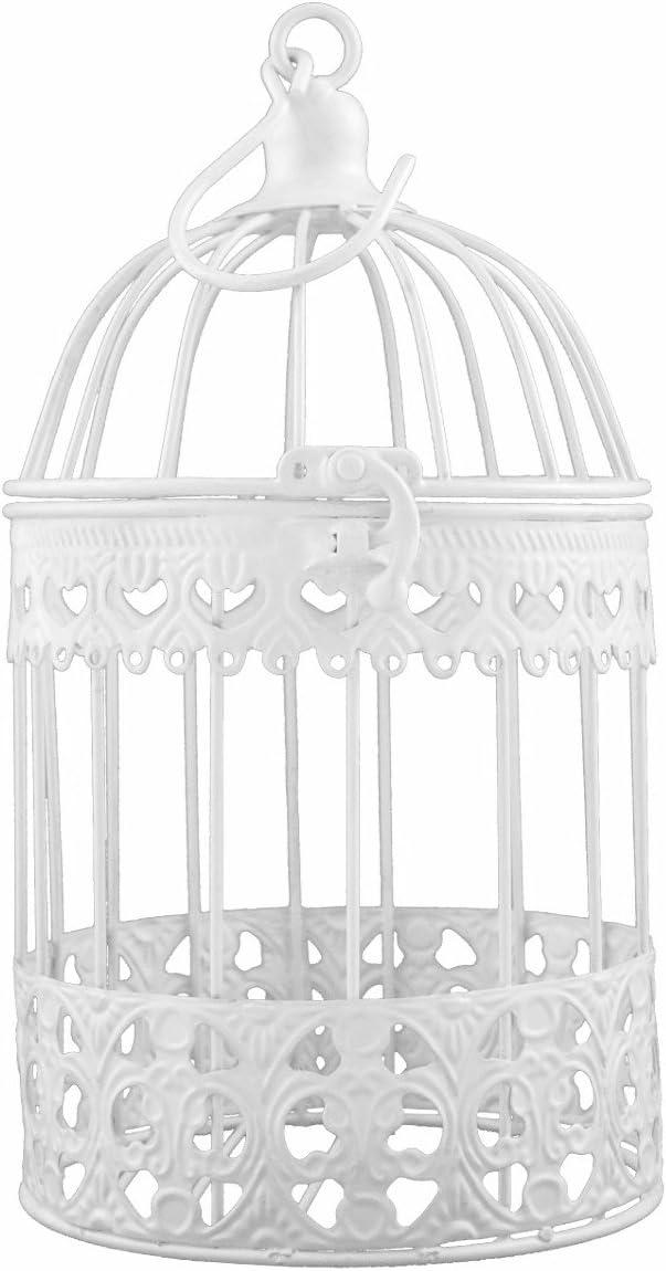 Deko metal jaula de pájaro color blanco 26x 14cm P de 011