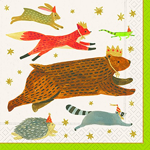 Woodland Animal Theme Napkins - Birthday Party Napkins - 20ct by Bunco Game Shop