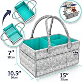 Baby Diaper Caddy Organizer - BenchMart Portable Nursery Storage Bin for Diapers, Wipes, Baby Bottles & Kid Toys, Baby Shower Gifts Basket for Boys Girls, Newborn Registry Must Haves, Perfect for Home, Car, Travel, Large