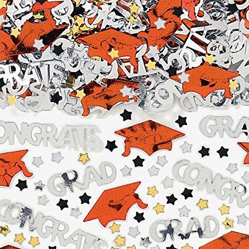 Amscan Orange Mixed Grad Confetti