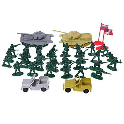 HOWWOH Military Sand Table Soldier Model Set Scene Building Kids Boy Educational Toys: Home & Kitchen