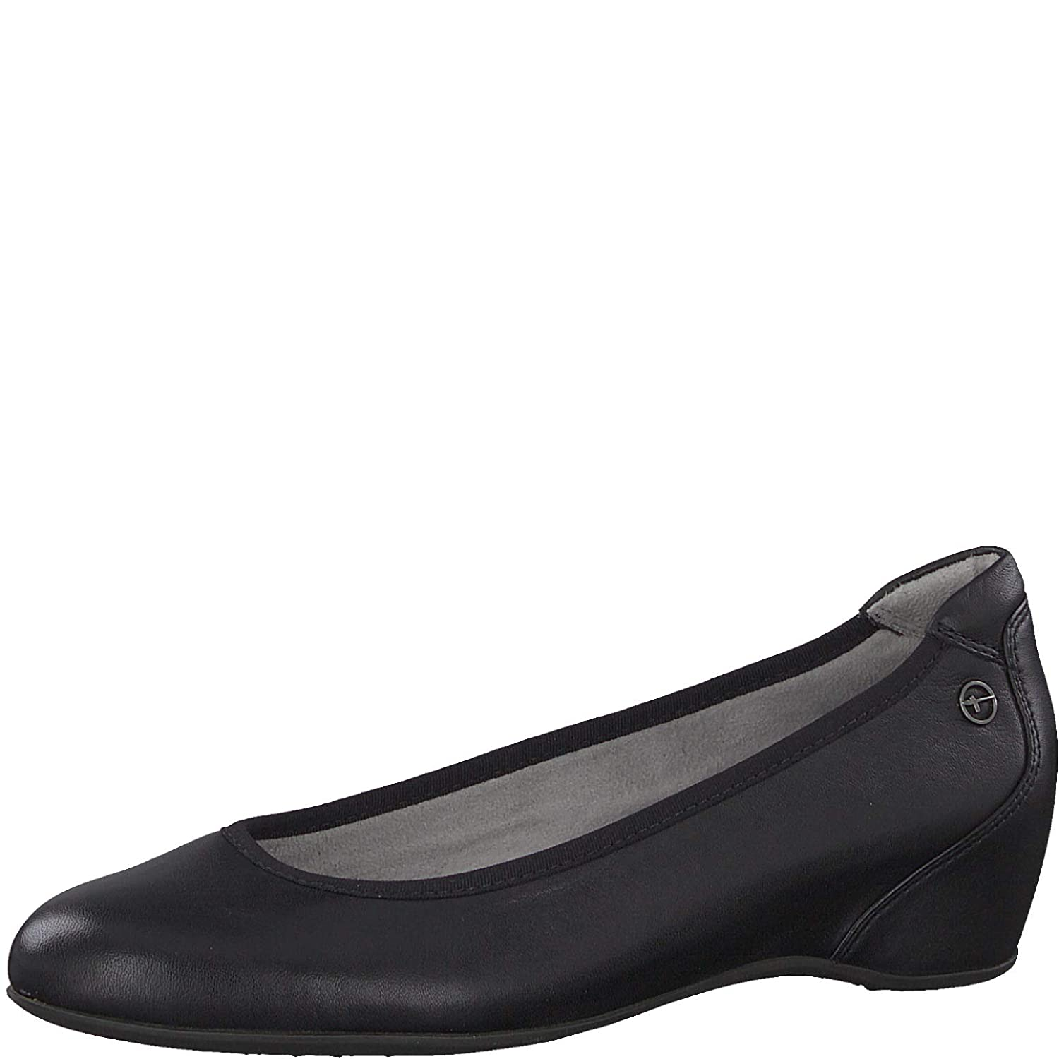 schwarz Leather Tamaris Damen 22421 Pumps
