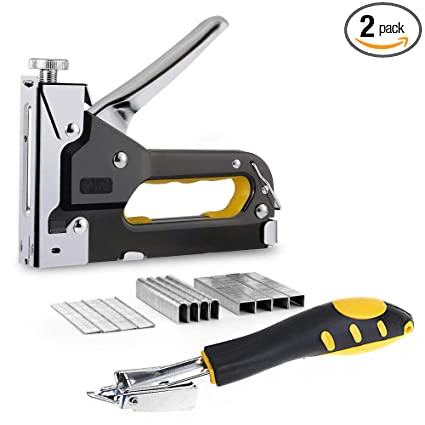 Amy 3 In 1 Heavy Duty Staple Gun With Staple Remover Tack Lifter Hand Operated Stainless Steel Stapler Brad Nail Gun Furniture Stapler Upholstery