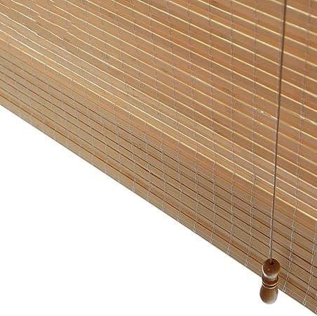 Estores enrollables Persianas Romanas Enrollables De Bambú De Flatweave con Cenefa, Cortinas Oscuras De Madera del Rodillo For El Patio De La Pérgola del Gazebo, 85/105/125 / 145cm Ancho: Amazon.es: Hogar