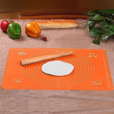 FATCHOI Extra Large Silicone Baking Mat for Pastry Rolling with Measurements(30×40cm) Chef Special,Non Stick,Non Slip,Pizza,Breads,Lasagna,and other Recipes & Desserts