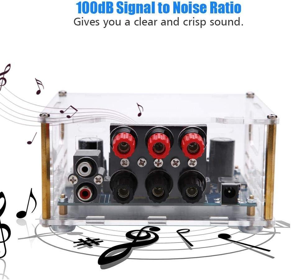 3 Kan/äle Gro/ßer Knopf Hakeeta Audioverst/ärker klarer Klang mit Radiator Verst/ärkerplatine Bassverst/ärkung Stereoerfahrung Mehrfachschutz Gleichstrom