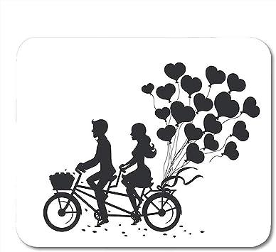 Mousepad Bicicleta Pareja Romántica Hombre Y Mujer En Fecha ...