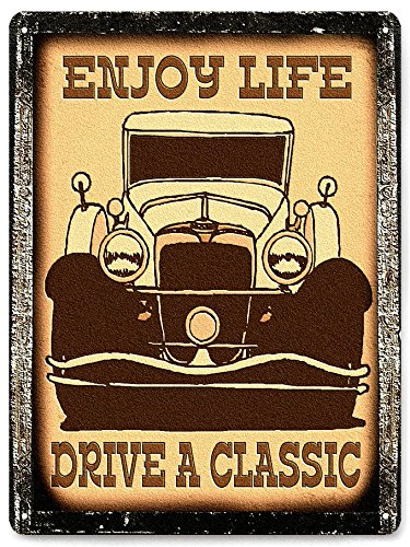 Car Classic metal sign vintage antique style mancave wall decor 309 ()