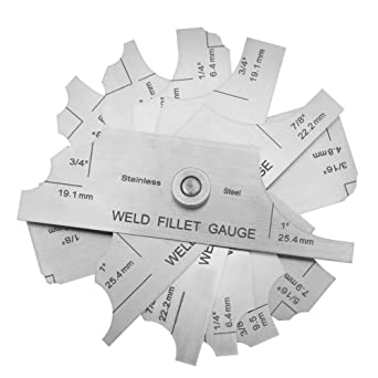 "Etched 1/"" R Mg-11 Cam Type Weld Gauge 1//8/"" HFS 3.2-25.4Mm"