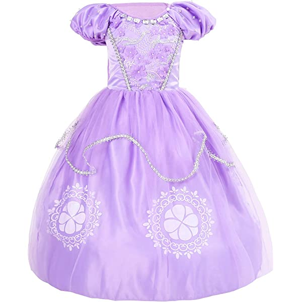 QZ Niñas Princesa Sofía Vestirse Vestidos de Fiesta de ...