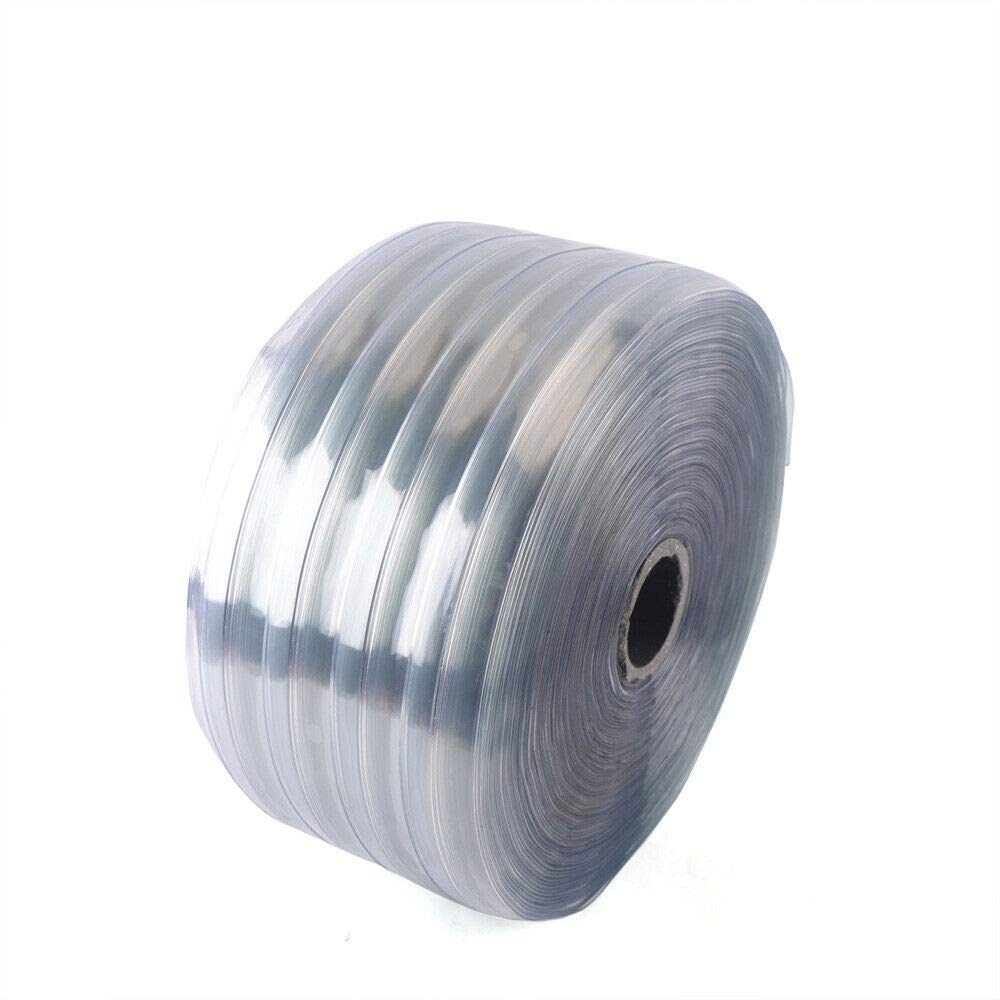 "Pet Home Warehouse Strip Door Curtain PVC Roll Ribbed,Clear Scratch Guard Ribbed Curtain Bulk Roll,164 Feet Length X 7.8/""Width for Walkin Cooler Plastic Curtain Strips Garage Freezer Workshop"