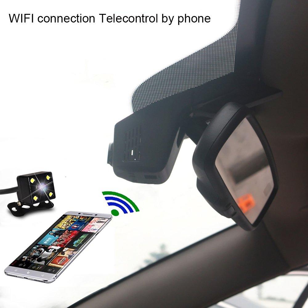 Single camera-front special auto accessories Universal Built-in WIFI Car hidden DVR Dash Camera Cam Digital Video Recorder Camcorder 1080P Night Version GP1248 CPU car driving recorder camera -A5D