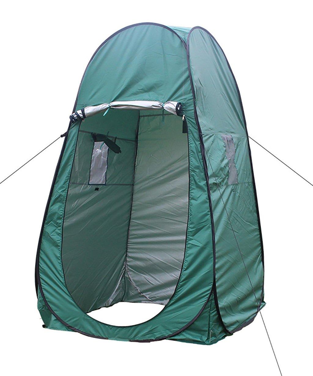 HAIPENG Outdoor Umzug Kleidung Zelt Strand Camping Portable Move Bad Toilette Zelt Grün Und Blau (Farbe : Grün, größe : 120  120  195cm)