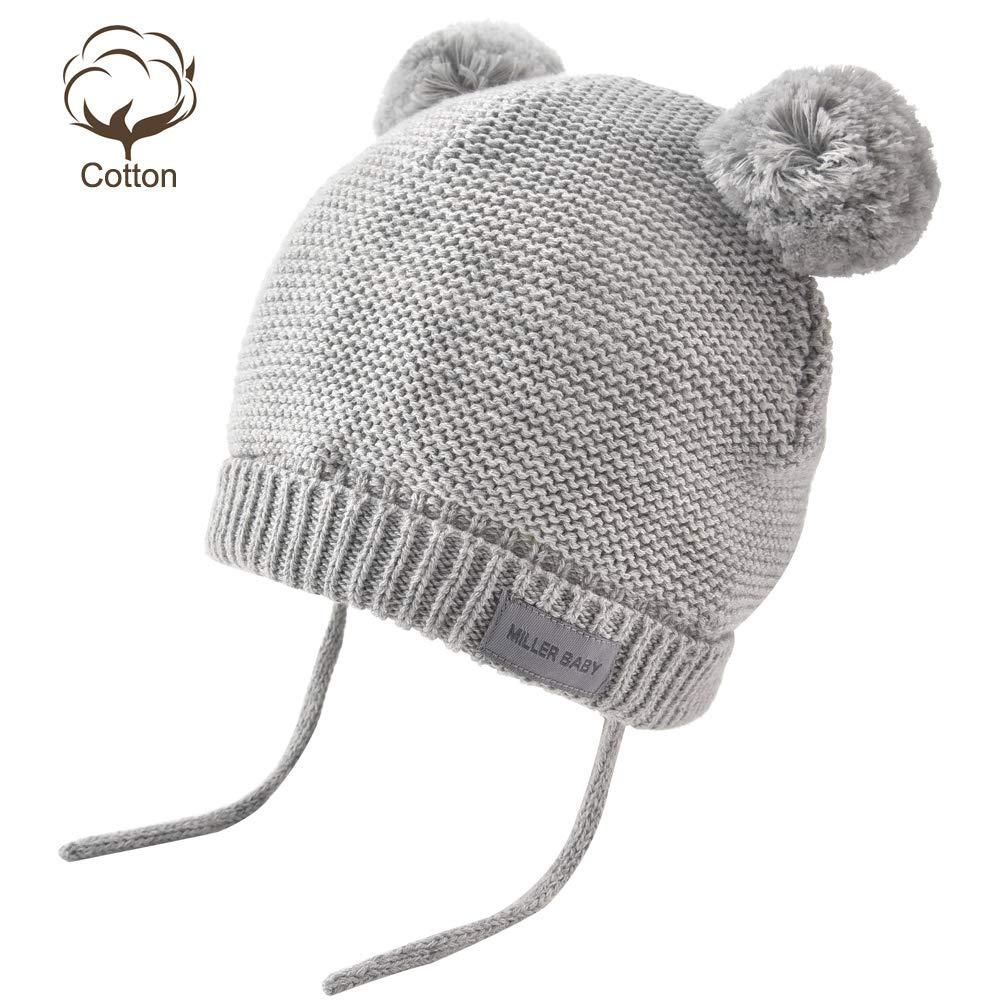 c08a38f6a851b Amazon.com  Aablexema Baby Beanie Hat with Ears - Infant Toddler Kids  Toddler Winter Warm Knitted Earflap Hat Pom Pom Cap for Boys Girls  Clothing