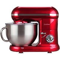 Cookmii Robot Pâtissier,Robot Petrin, Robot Cuisine avec Bol 5.5L Max 1090W (Rouge)
