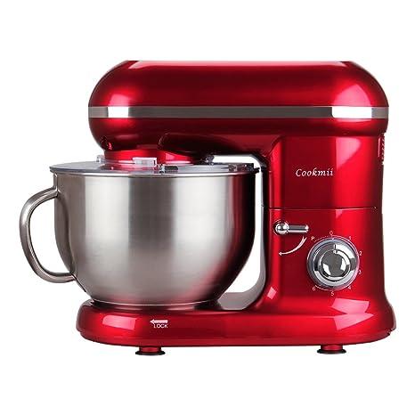 Cookmii Batidora Amasadora Repostería, Amasadoras de pan Práctica, Robot de cocina Multifuncional, Amasadoras de pan Profesional Estable Rápido, 6 ...