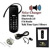 LONG-CZ J8 Unlock mini mobile phone Bluetooth dialer earphone 0.66 inch Single SIM card MP3 SMS Low radiation cell phones (Black)