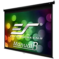 Elite Screens Manual B Series, 120-inch Diag. 4:3, Pull Down Projection Manual Projector Screen with Auto Lock, M120V