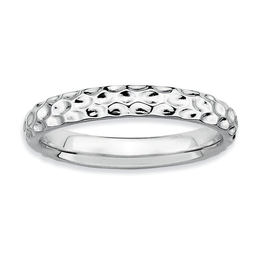 ICE CARATS 925 Sterling Silver Band Ring Size 7.00 Stackable Fancy/Fine Jewelry Ideal Gifts For Women Gift Set From Heart by ICE CARATS (Image #1)
