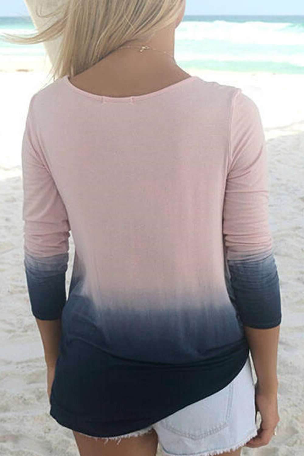 Women's Casual Tie Dye Long Sleeve Tunic T-shirt Top Tee: Amazon.co.uk:  Clothing