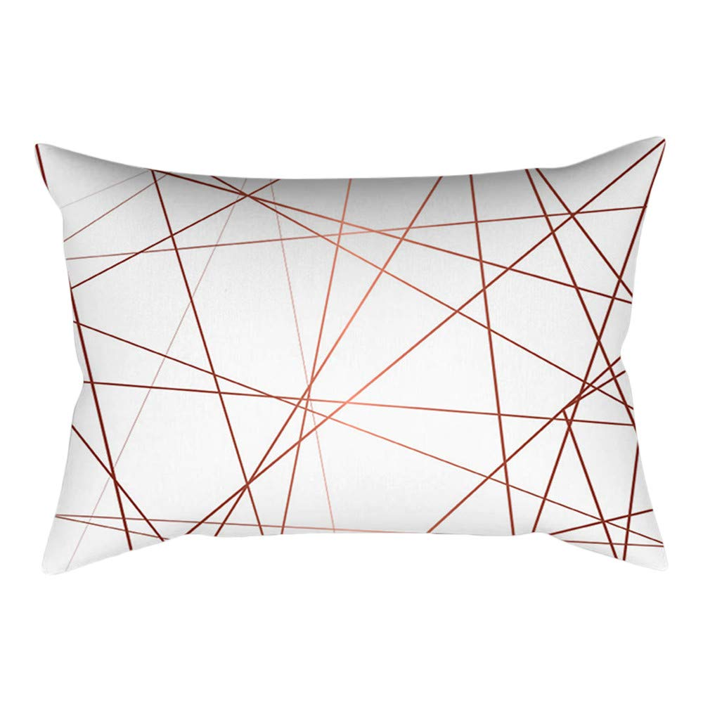 Weiliru 100% Cotton Pillow Cases – | Silk Like Soft, Rose Gold Pink Cushion Cover Square Pillowcase Home Decoration(30cm ×50cm)