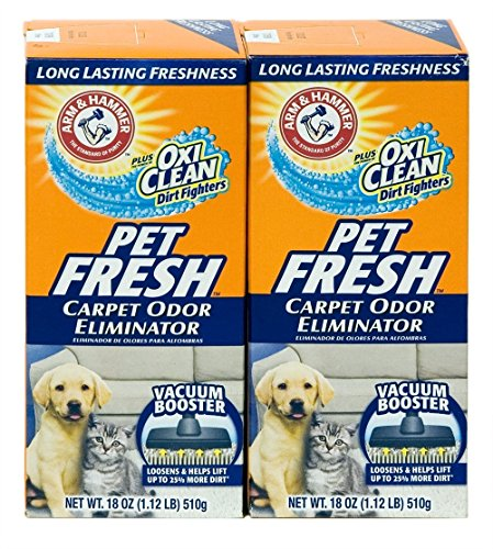 Arm & Hammer Pet Fresh Carpet Odor Eliminator Plus Oxi Clean Dirt Fighters, 18 oz,(PACK OF (Pet Gem)