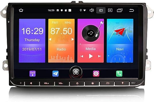 ERISIN 9 Pulgadas Android 10.0 Estéreo de Automóvil de Coche ...