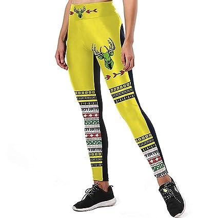 Amazon.com : JOFOW Womens Leggings Striped Slogan Tauren ...