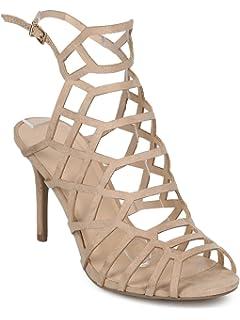 e4c22e606d4 Wild Diva Women Metallic Leatherette Peep Toe Hollow Out Stiletto Sandal  GG05