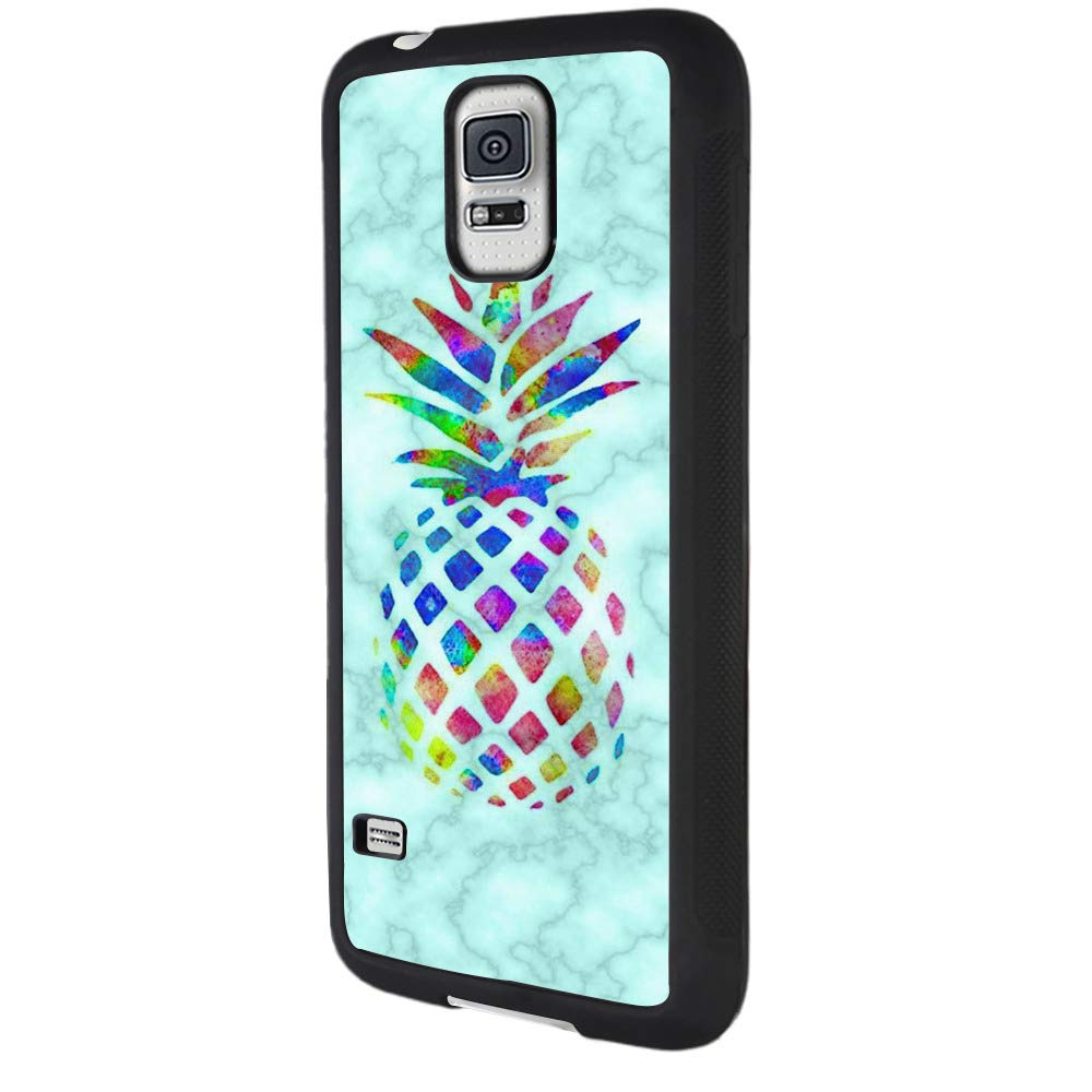 brand new 2d531 2535c Amazon.com: Samsung Galaxy S5 Case,Marble Pineapple Case for ...
