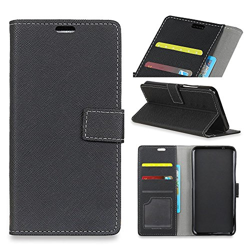 - AICEDA Wiko View 2 Case,Anti-Scratch Back Shell Premium PU Leather Wallet Case Back Shell with Kickstand and Credit Card Slot Cash Holder Flip Cover for Wiko View 2 Black