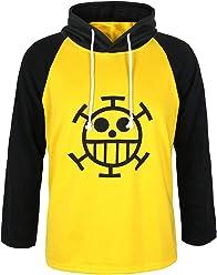 CoolChange Camiseta de Trafalgar Law con símbolo de Jolly Rogers del  equipaje de piratas Sombrero de 0105ba8abeb